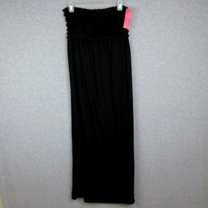 Swim Coverup Black Long Dress